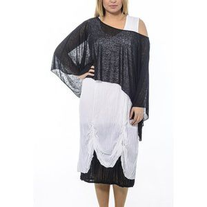 Plus Size Resort Viscose Dress - La Mouette